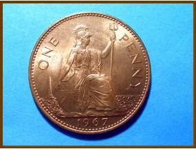 Великобритания 1 пенни 1967 г.