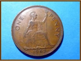 Великобритания 1 пенни 1962 г.