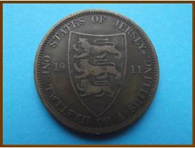 Джерси 1/12 шиллинга 1911 г.