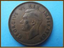 Южная Африка ЮАР 1 пенни 1943 г.