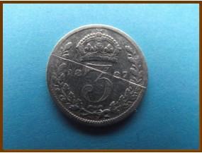 Великобритания 3 пенса 1897 г. Серебро