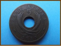 Восточная Африка 5 центов 1935 г.