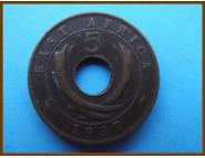Восточная Африка 5 центов 1937 г.