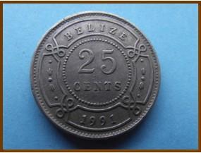 Белиз 25 центов 1991 г.