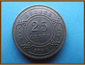 Белиз 25 центов 1980 г.