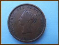 Канада 1 пенни 1843 г. Нью-Брансуик