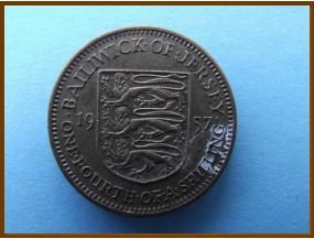 Джерси 1/4 шиллинга 1957 г.