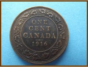 Канада 1 цент 1916 г.