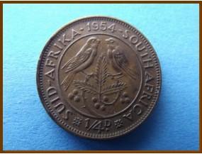 Южная Африка ЮАР 1/4 пенни 1954 г.