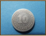 Стрейтс-Сетлментс 10 центов 1895 г. Серебро