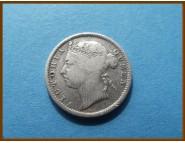 Стрейтс-Сетлментс 10 центов 1899 г. Серебро