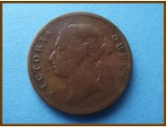 Стрейтс-Сетлментс 1 цент 1901 г.