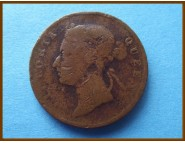 Стрейтс-Сетлментс 1 цент 1900 г.
