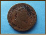 Стрейтс-Сетлментс 1 цент 1908 г.