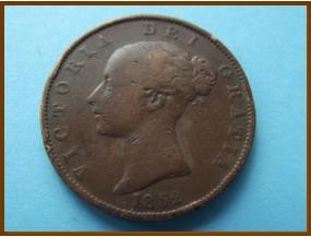 Великобритания 1/2 пенни 1852 г.