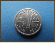 Австралия 3 пенса 1948 г.Серебро