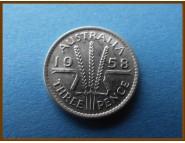 Австралия 3 пенса 1958 г. Серебро