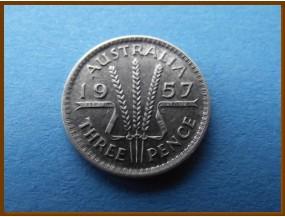 Австралия 3 пенса 1957 г.