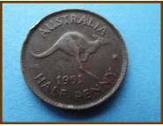 Австралия 1/2 пенни 1951 г.