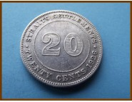 Стрейтс-Сетлментс 20 центов 1926 г. Серебро