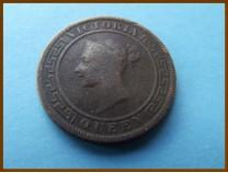 Цейлон 1 цент 1890 г.