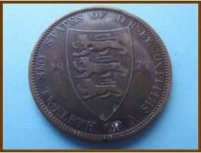 Джерси 1/12 шиллинга 1877 г.
