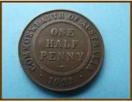 Австралия 1/2 пенни 1921 г.