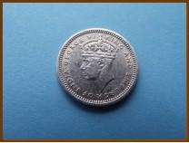 Британская Малайя 5 центов 1939 г. Серебро