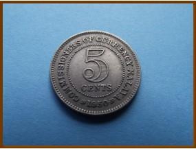 Британская Малайя 5 центов 1950 г.