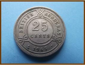 Британский Гондурас 25 центов 1965 г.