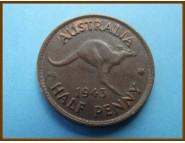 Австралия 1/2 пенни 1943 г.