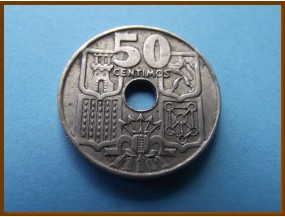 Испания 50 сантим 1949 г.