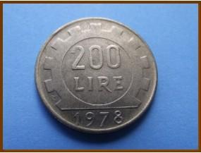 Италия 200 лир 1978 г.