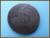Испания 5 сантимов 1870 г.