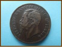 Италия 10 чентезимо 1862 г.