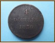 Гернси 4 дубля 1830 г.