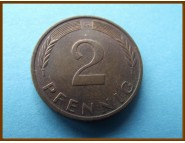 Германия 2 пфеннига 1973 г.