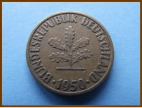 Германия 10 пфеннигов 1950 г.