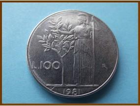 Италия 100 лир 1981 г.