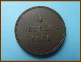 Гернси 4 дубля 1868 г.