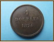 Гернси 4 дубля 1874 г.