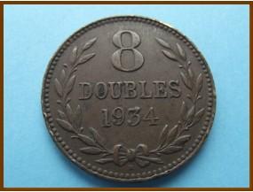 Гернси 8 дублей 1934 г.