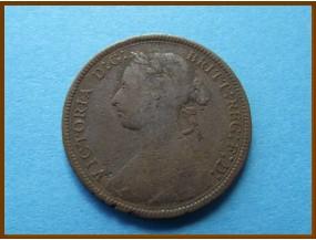 Великобритания 1/2 пенни 1884 г.
