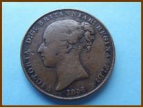 Джерси 1/13 шиллинга 1858 г.