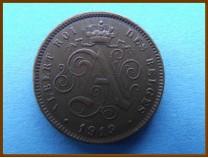 Бельгия 2 сантима 1919 г.