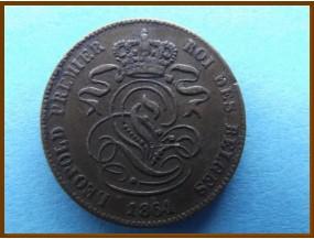 Бельгия 2 сантима 1864 г.