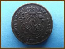 Бельгия 2 сантима 1909 г.