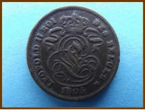 Бельгия 2 сантима 1905 г.