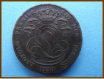 Бельгия 5 сантим 1850 г.
