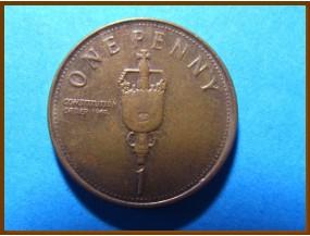 Гибралтар 1 пенни 2008 г.